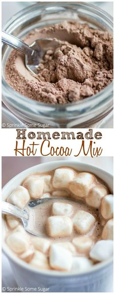 Homemade Hot Cocoa Mix. This makes the richest, creamiest hot chocolate you'll ever have. Keep a batch of this made for the cold months ahead!