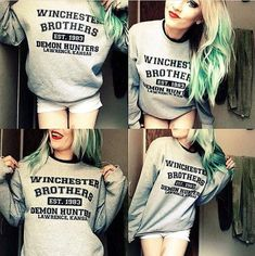 Winchester Brothers ( Supernatural ) Crew Neck Sweatshirt