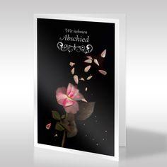 Die klassische Trauerkarte im Hochformat zeigt die Aufnahme einer zerstreuten Rosenblüte mittels eines Scanners. Die hier verwendete kreative Aufnahmetechnik erschafft besonders gefühlvolle und verträumte Werke. Dadurch werden Szenarien erzeugt, die durch normale Fotografie nicht erfasst werden können. https://www.design-trauerkarten.de/produkt/schluchzen-der-rose/
