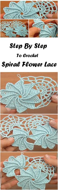 Crochet Spiral Lace Step by Step