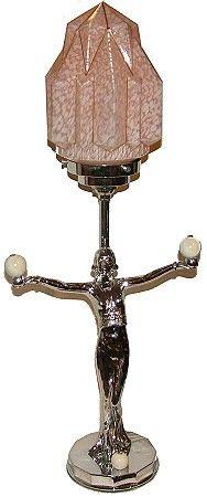Art Deco chrome lamp