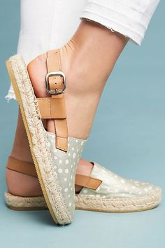 Slide View: 1: Anthropologie Slingback Espadrilles