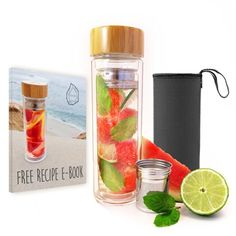 Evosa Hydrate Tea Tumbler, Fruit Infuser, & Coffee Maker with Dual Glass…