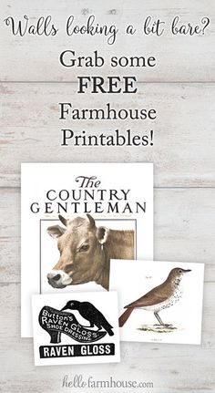 Free vintage & farmhouse printables for your home