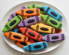 Crayon Cookies by @SweetSugarBelle {Callye Alvarado} {Callye Alvarado}