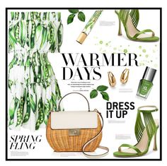 """Warmer Days Ahead: Spring Dresses"" by suzanne228 ❤ liked on Polyvore featuring Dolce&Gabbana, Current Mood, Kate Spade, Palm Beach Jewelry, AERIN, COVERGIRL and springdresses"