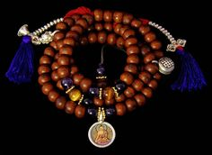 Tibetan Mala with Amethyst & Tiger Eye Beads