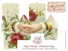 Wings of Whimsy: 100 Christmas Cottages #freebie #ephemera #printable #christmas #cottage
