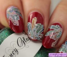 The Digital Dozen Does All That Glitters: Glittering Crystals - Painted Fingertips