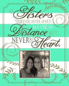 Sisterhood Quote - Gift for Sister - Sorority Big Little Gift  Printable Personalized Gift Decor by Jalipeno Digital Art on Etsy. The perfect gift for your sister for any reason - birthday, Christmas, moving away, graduation, whatever! Sister quotes - sisterhood quotes - sister farewell gift