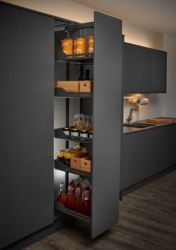 Peka Libell W Soft Close Tall Larder Unit Kitchen Pullout Part of a new collection of innovative and exciting wire work accessories from PEKA to Just Click Kitchens from the Swi Larder Unit, Kitchen Larder, Larder Cupboard, Kitchen Cabinet Pulls, Kitchen Units, Kitchen Cupboards, New Kitchen, Kitchen Ideas, Kitchen Inspiration