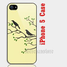 Two Birds In The Tree Custom iPhone 5 Case Cover | Merchanstore - Accessories on ArtFire