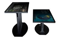 The Platform 46 Full-Size and Coffee Tables feature a 3M high-performance multitouch display with support for 60 touch points.