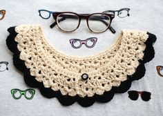 OMG, I need to make this for my dress form. // one sheepish girl: Crochet Collar Obsessed!