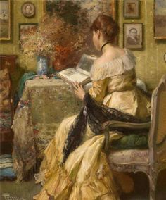 Afternoon Reading, Fernand Toussaint
