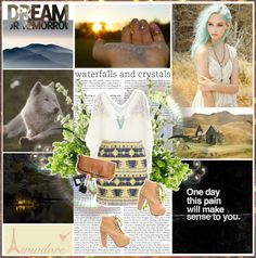 """""""We must away ere break of day To find our song for heart and soul"""" by aniael ❤ liked on Polyvore"""