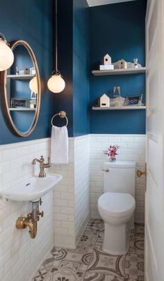 Below are the Kleine Badezimmer Gestalten. This post about Kleine Badezimmer Gestalten was posted under the Badezimmer category. If you … Bathroom Design Small, Bathroom Interior Design, Modern Bathroom, Small Bathroom Ideas, Small Toilet Design, Blue Bathroom Decor, Colorful Bathroom, Bath Design, Decoration For Bathroom