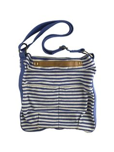 49 Square Miles - Striped Classic Canvas Crossbody Navy