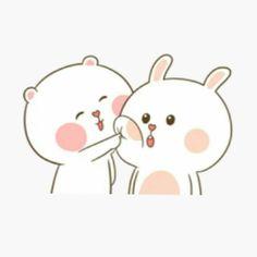 TuaGom: Puffy Rabbit X Bear Cute Couple Cartoon, Cute Love Cartoons, Bear Cartoon, Cartoon Pics, Cute Memes, Funny Cute, Cute Bear Drawings, Cute Love Gif, Pokemon