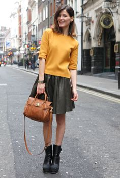One of my favorite street-style looks from London Fashion Week