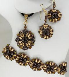 Athena Bracelet, Earring and Pendant pattern set
