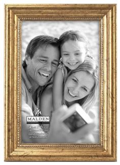 malden international designs classic wood picture frame4x6 gold