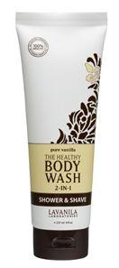 LaVanila The Healthy Body Wash 2-in-1 Shower & Shave Pure Vanilla