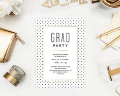 City Chic Graduation Party Invitation by fineanddandypaperie