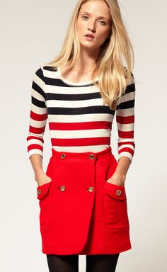 red wrap skirt new girl zooey jess
