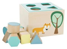 We think wooden toys are the best! Here are 10 Wondrous Wooden Toys for Kids that are super fun, educational and are sure to keep them entertained. Wooden Toy Boxes, Wooden Shapes, Wood Toys, Diy Toys, Baby Shop, Cool Gifts, Cubes, Toy Chest, Baby Gifts