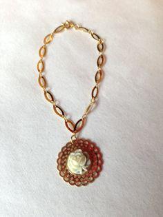 14 K Gold Plated Chain Bracelet w/Gold by ErinMichellesJewelry, $12.00