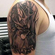 Tatuajes de ciervos, más fotos aquí http://tatuajesde.net/ciervos/