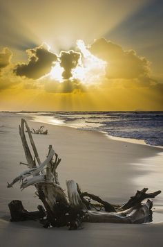 Sunset at Tailor Bight in Moreton Island, Qld, Australia