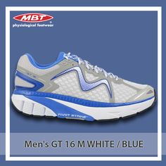 The newly launched Men's GT 16 M is equipped with a nylon shank which promises stability and flexbility. Runing Shoes, Running Shoes For Men, Green And Orange, Shank, Stability, Footwear, Sneakers Nike, Stuff To Buy, Blue