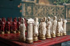 Greek Mythology Chess set Customisable Colours от WinkingBlindBats