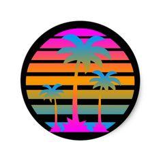 Shop Corey Tiger Retro Vintage Palm Trees Sunset Poster created by COREYTIGER. Neon Palm Tree, Palm Tree Sunset, Palm Trees, Palm Tree Print, Retro Vintage, Vintage Prints, Vintage Posters, Neon Artwork, Artwork Prints