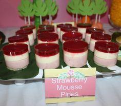 Strawberry Mousse at a Hawaiian Luau Party #luau #strawberrymousse