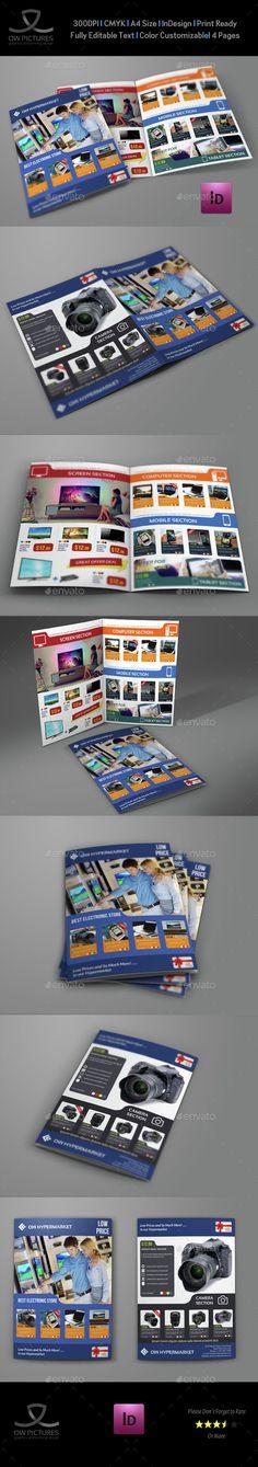 Electronics Products Catalog Bi-Fold Brochure Template