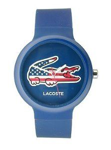 Lacoste Goa USA BlueRed Silicone Unisex watch 2020073 *** More info could be found at the image url.