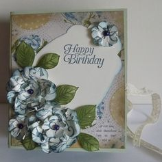 Another box card using up old DSP paper