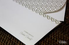 Simple white and gold printed wedding card by October - Design Solutions. Indian Wedding Invitations. #shop #dream #festive #weddings. Find more at #www.jivaana.com