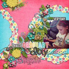 Digital Scrapbook Page by Britt | Extraordinary by Bella Gypsy