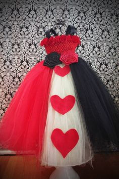 Queen of Hearts tutu costume, maddie must have one like this!