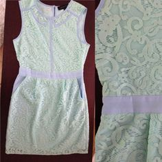 Mint and blue English Rose tes dress with pockets Mint and blue English Rose tes dress with pockets. Never worn. Length is mid thigh. English Rose  Dresses