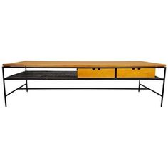 Iron And Maple Coffee Table By Paul Mc Cobb  MidCentury  Modern, Metal, Wood, Coffee  Cocktail Table by Refine Limited