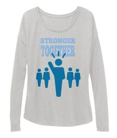 Stronger Together Athletic Heather T-Shirt Front