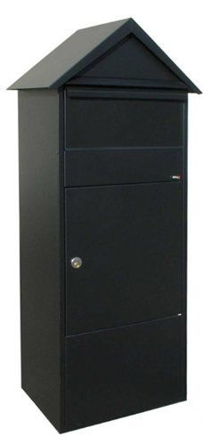 Allux 800 Mail / Parcel Box Style: Vaulted Top by Qualarc. $530.00. Made of galvanized steel. Tough powder coat finish. Can fit up to two weeks of mail. Has a decorative peaked roof. Mailbox mounts to flat surface on ground, optional mounting base available. ALX-810-BK Style: Vaulted Top Features: -Mail / parcel box.-Made of strong, galvanized steel.-Letter / parcel flap with soft closing mechanism.-Fitted with a heavy duty cam lock.-Easily holds up to two weeks of...