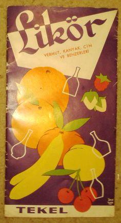 Tekel likör broşürü ,ATIF TUNA tasarımı