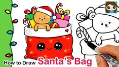 How to Draw Santa's Toy Bag | Christmas Series #6