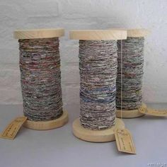 you liked the idea of recycling newspaper into yarn, here's how to spin it yourself.If you liked the idea of recycling newspaper into yarn, here's how to spin it yourself. Make Your Own Newspaper, Recycle Newspaper, Newspaper Crafts, Old Newspaper, Newspaper Flowers, Diy Projects To Try, Craft Projects, Craft Ideas, Craft Tutorials
